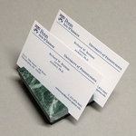 Compact Green Marble Business Card Holder (2 slots)
