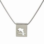 Dolphin Pendant (sterling silver)