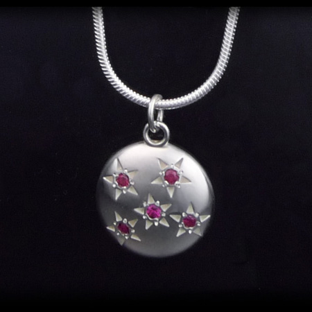 Five Ruby:  Starry Sky Necklace (Sterling Silver) - New!