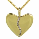 Gold Harmony Heart with 10 Diamonds (Small)