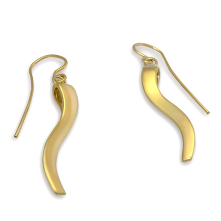 Gold Ogee Earrings