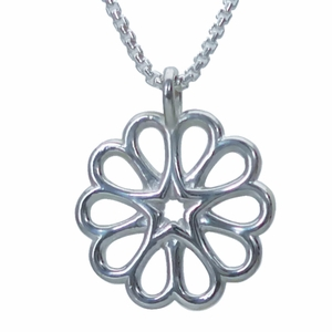 Hearts and Star Rosette (Sterling Silver)