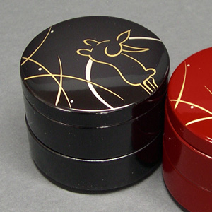 Japanese Lacquerware Jewelry Box (Gold Rabbit)