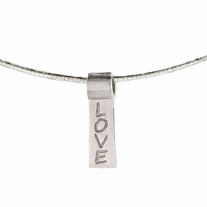 LOVE - Sterling Silver Slide Necklace