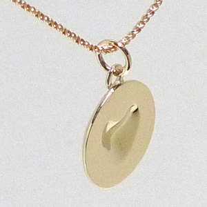 Melting Heart Necklace (18k Yellow Gold)