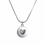 Melting Heart Pendant (Sterling Silver)