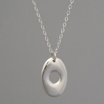 Open Oval Pendant (sterling silver)