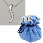 Petite 18k Gold Ogee Necklace in Cotton Gift Pouch