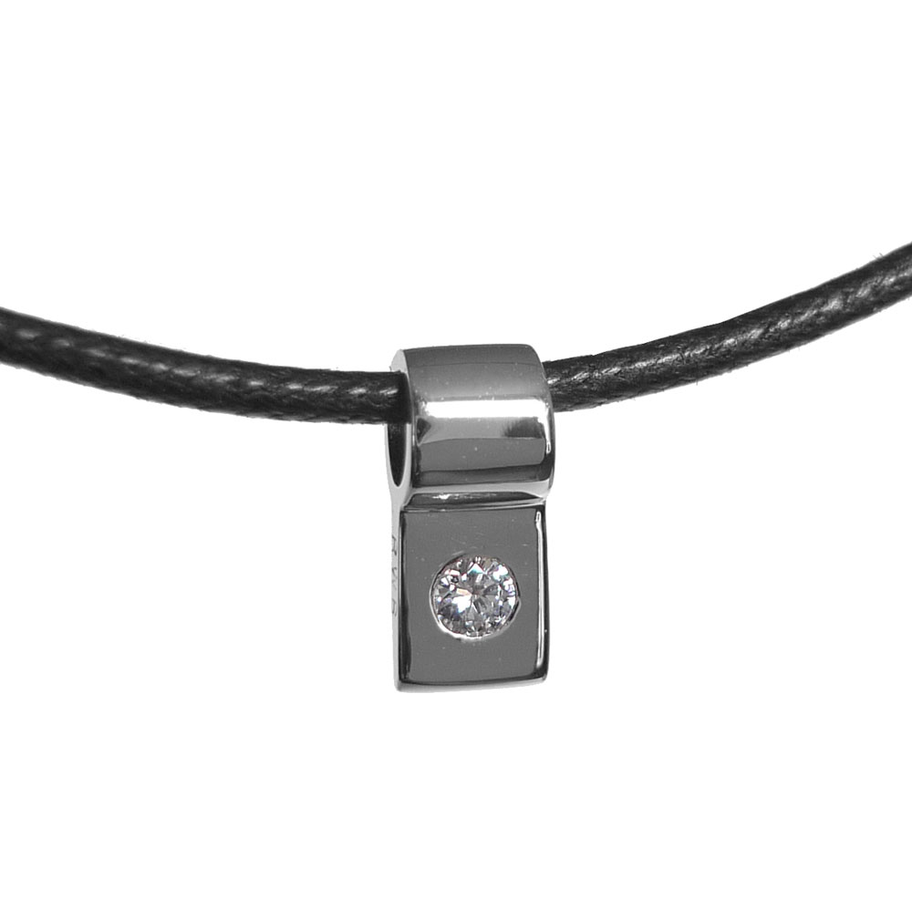 20th Anniversary Platinum and Diamond Slide Necklace
