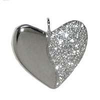 Platinum and Pave Diamond Harmony Heart Necklace
