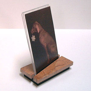 Rectangular Photo Frame in Terra Cotta Marble Stand