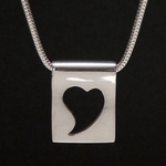 Silhouette Heart Pendant (Sterling Silver)