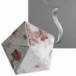 Silver Ogee Necklace in Origami Box