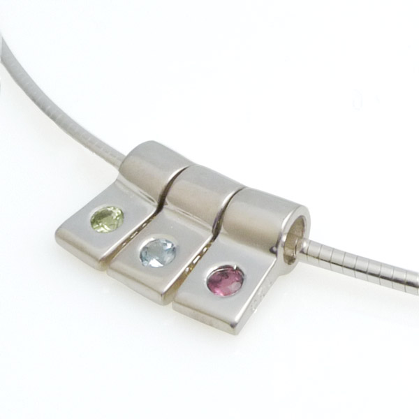 uk birthstones necklace with circles three s birthstone mum kaya silver sterling jewellery ci
