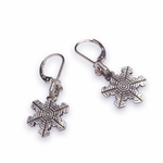 Silver Snowflake I Earrings (oxidized)