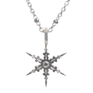 Silver Snowflake with a Splash
