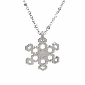 Sterling Silver Snowflake III (filigree, solid center)