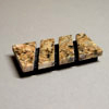 Stone Business Card Holder - Rectangular (burnt sienna granite)