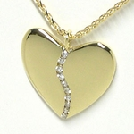 Ten Diamond Gold Harmony Heart (Medium)