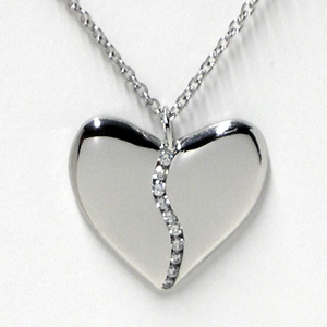 Ten Diamond Platinum Harmony Heart (Medium)