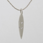 Ten Diamond Silver Facet Necklace