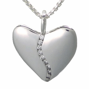 Ten Diamond Silver Harmony Heart (Medium) in Gift Tin
