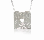 Topo Heart Silver Pendant (Satin or New High Polish finish)