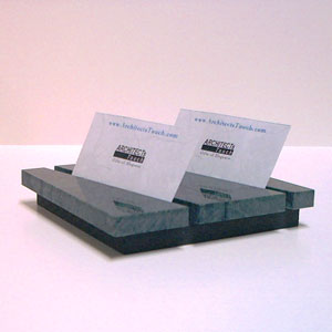 Two Compartment Business Card Holder (Green Marble)