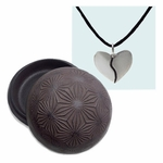 Two-Tone Harmony Heart in a Cast Iron Container (Dandelion Pattern)