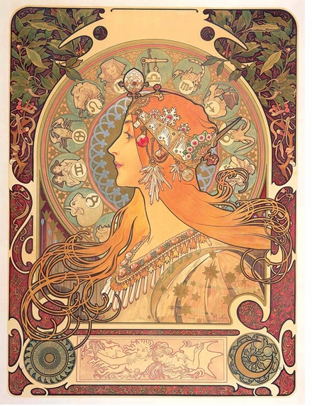 A visual language meant to express beauty in 'Alphonse Mucha'