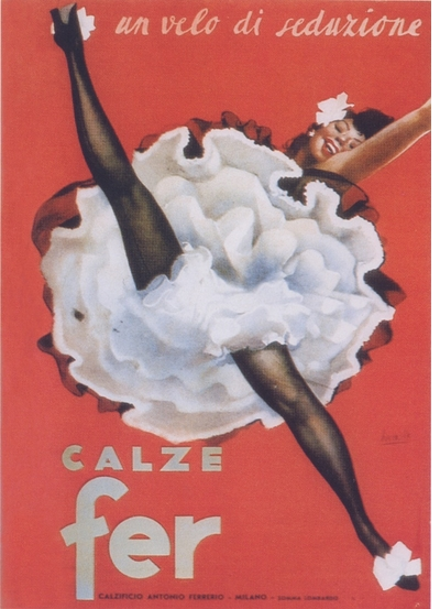 A Web of Seduction: Irony, Imagination and Eroticism in Italian Advertising Posters, 1895-1960