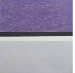 Agnes Martin, Untitled 1959 purple and grey painting