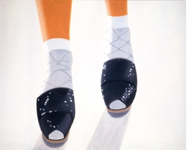 "Featured image, the 1987 oil painting, ""Ada's Black Sandals,"" is reproduced from <a href=""9788881588305.html"">Maine, New York</a>."