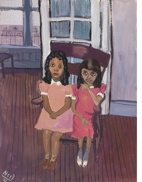 """Two Girls in Spanish Harlem (Carmen and Hilda),"" 1941, is reproduced from 'Alice Neel: Uptown.'"