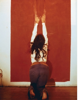 """Body Tracks"" (1974) is reproduced from <I>Ana Mendieta: Traces</I>."