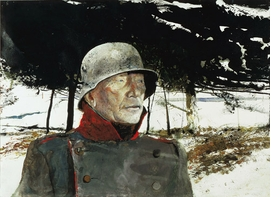 "Featured image: Andrew Wyeth, ""The German,"" 1975. Watercolor © Andrew Wyeth."