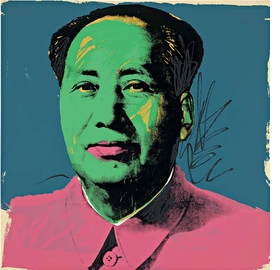 """Mao"" screenprint, 1972, is reproduced from 'Andy Warhol: Prints.'"