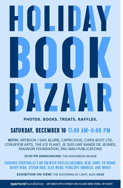Aperture Announces the Holiday Book Bazaar