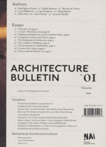 Architecture Bulletin 01: Essays on the Designed Environment