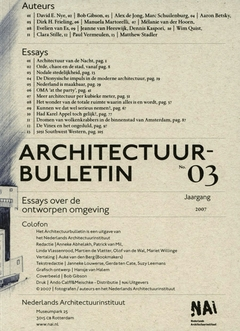 architecture bulletin designed environment essay