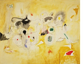 """Pastoral"" (1947) is reproduced from 'Ardent Nature: Arshile Gorky Landscapes, 1943–47.'"