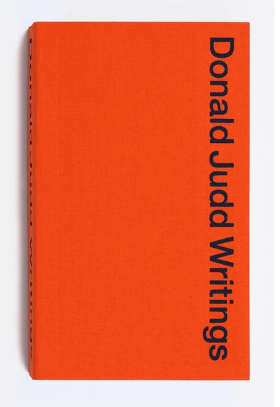 Art Catalogues at LACMA Presents Flavin Judd and Michael Govan on 'Donald Judd Writings'