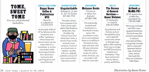 """ARTBOOK @ MoMA PS1 Magazine Shop voted """"Best of"""" in New York Magazine"""