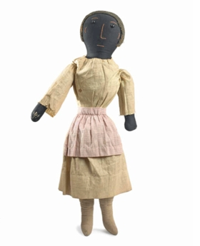 """Woman with Pink Apron,"" by an unknown artist in the first third of the twentieth century, is reproduced from <I>Black Dolls</I>."