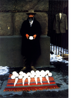 Featured image by David Hammons from <i>Bliz-aard Ball Sale</i> (1983).