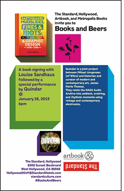 BOOKS AND BEERS: Join Louise Sandhaus & Quindar at The Standard, Hollywood