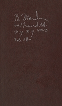 Brice Marden: Notebook Feb. 1968-