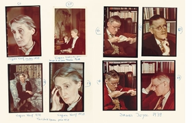 Featured photographs - of Virginia Woolf and James Joyce in 1939 - are reproduced from <I>Carnets de Gisèle Freund</I>.