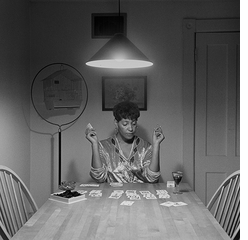 Carrie Mae Weems: Kitchen Table Series, Woman Playing Solitaire