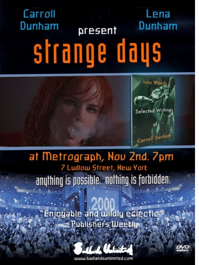 Carroll and Lena Dunham launch 'Into Words' with 'Strange Days' screening at Metrograph